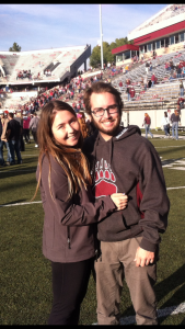 Me with my girlfriend Kelsey after a University of Montana football game.